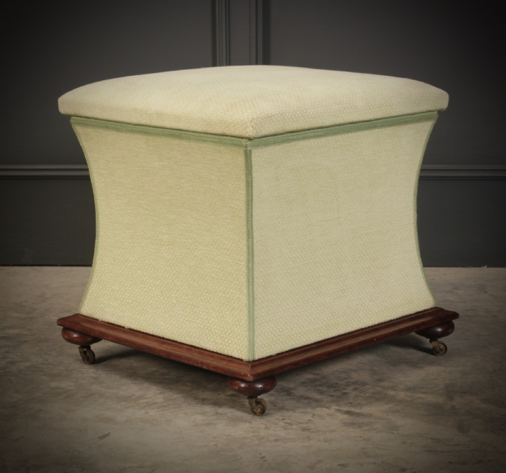 regency shaped upholstered ottoman