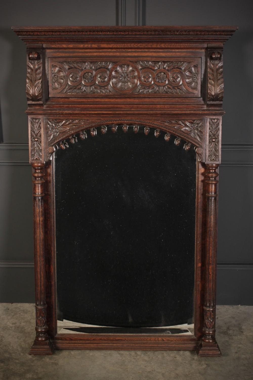 carved oak pier mirror