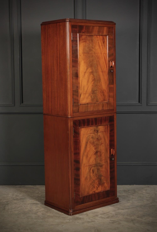 tall slim mahogany music cabinet