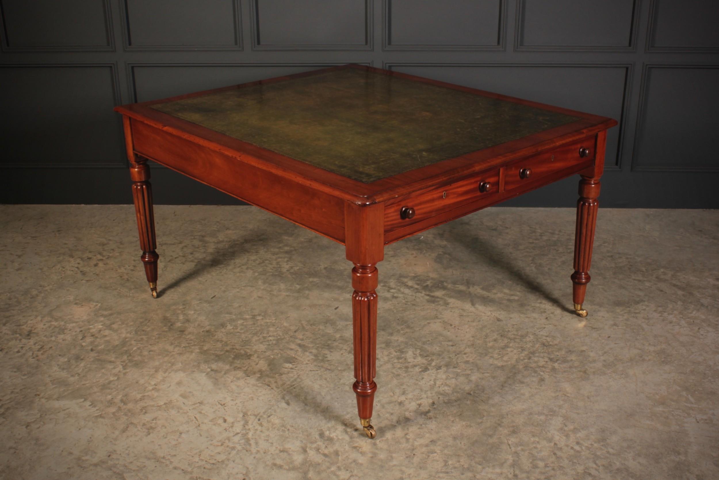 large victorian mahogany partners writing desk