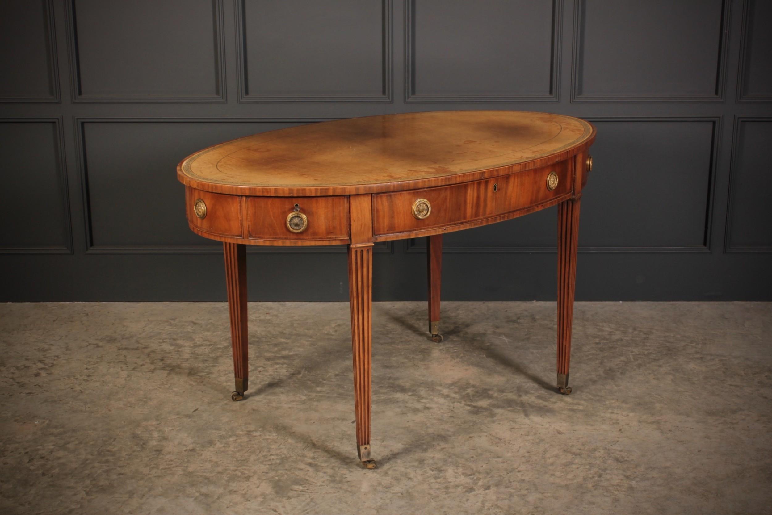 superb george iii oval writing table