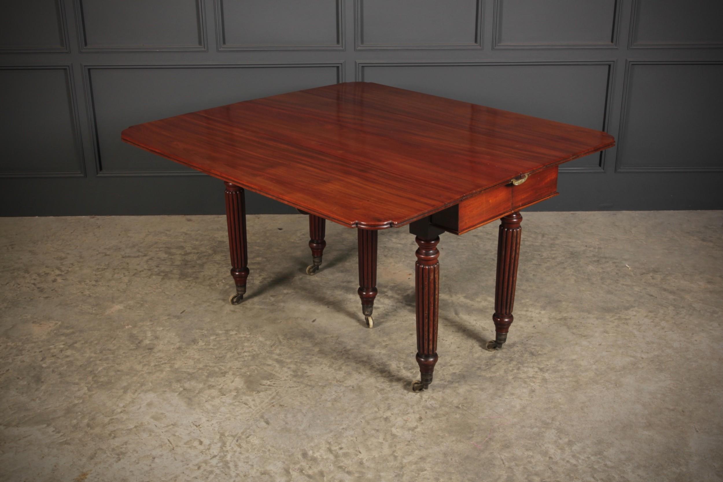 rare cuban mahogany extending dining table