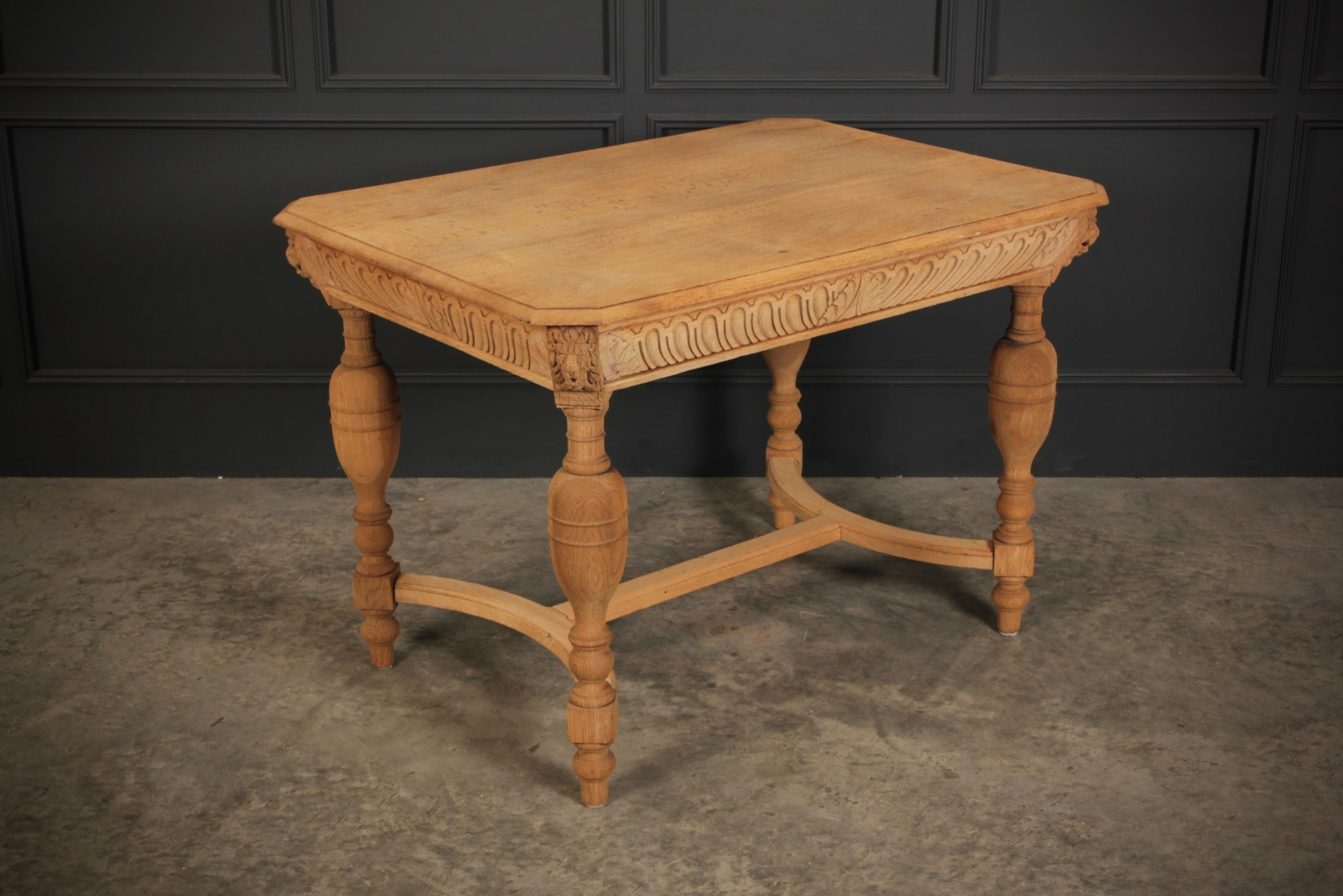 bleached raw oak centre table
