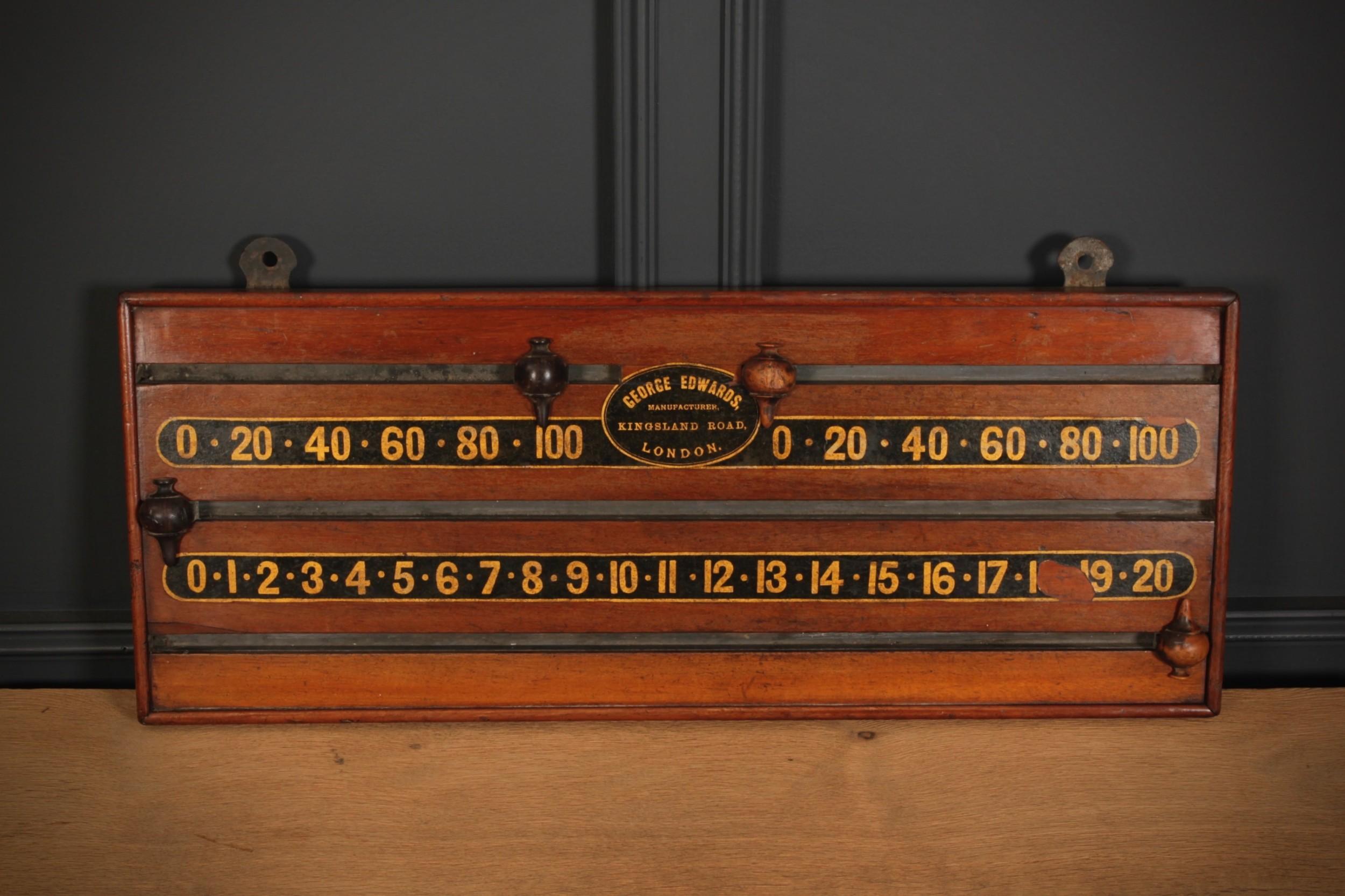 victorian mahogany scoreboard by george edwards