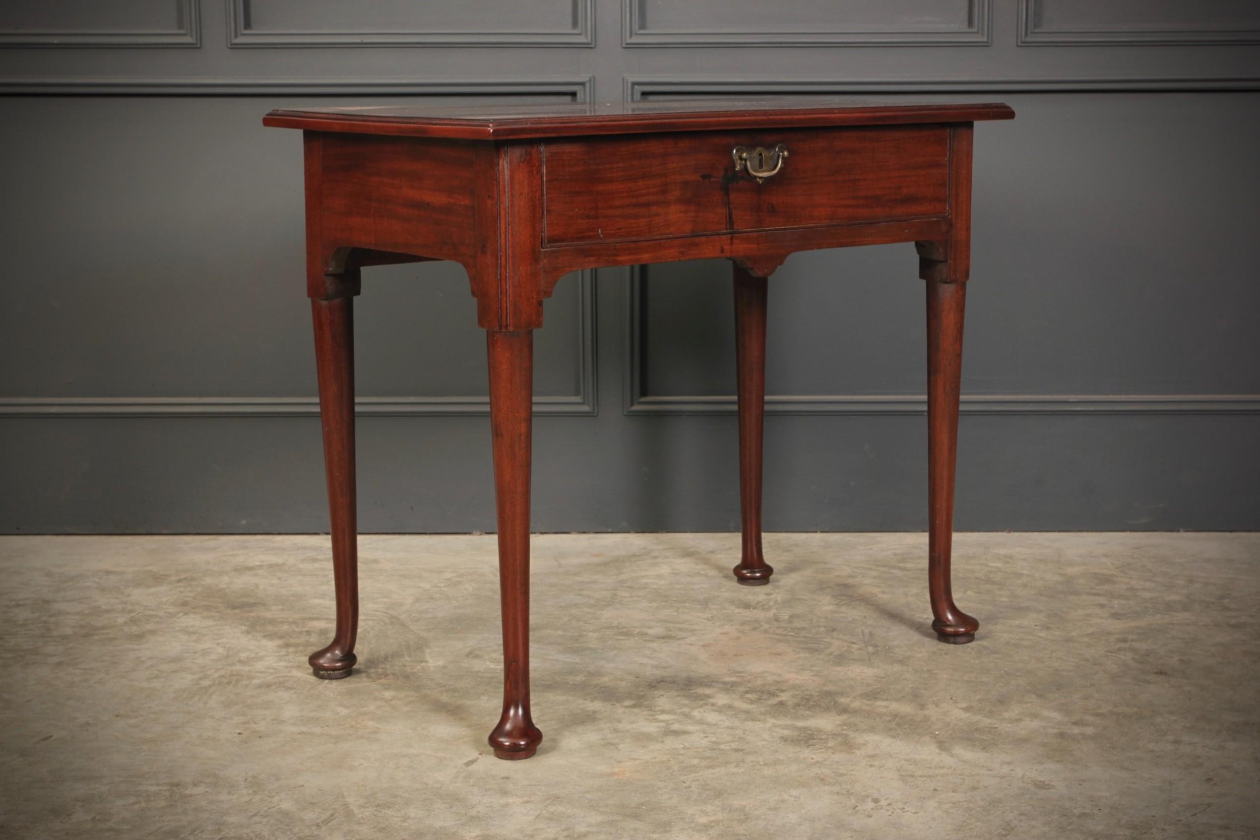 early 18th century mahogany side table