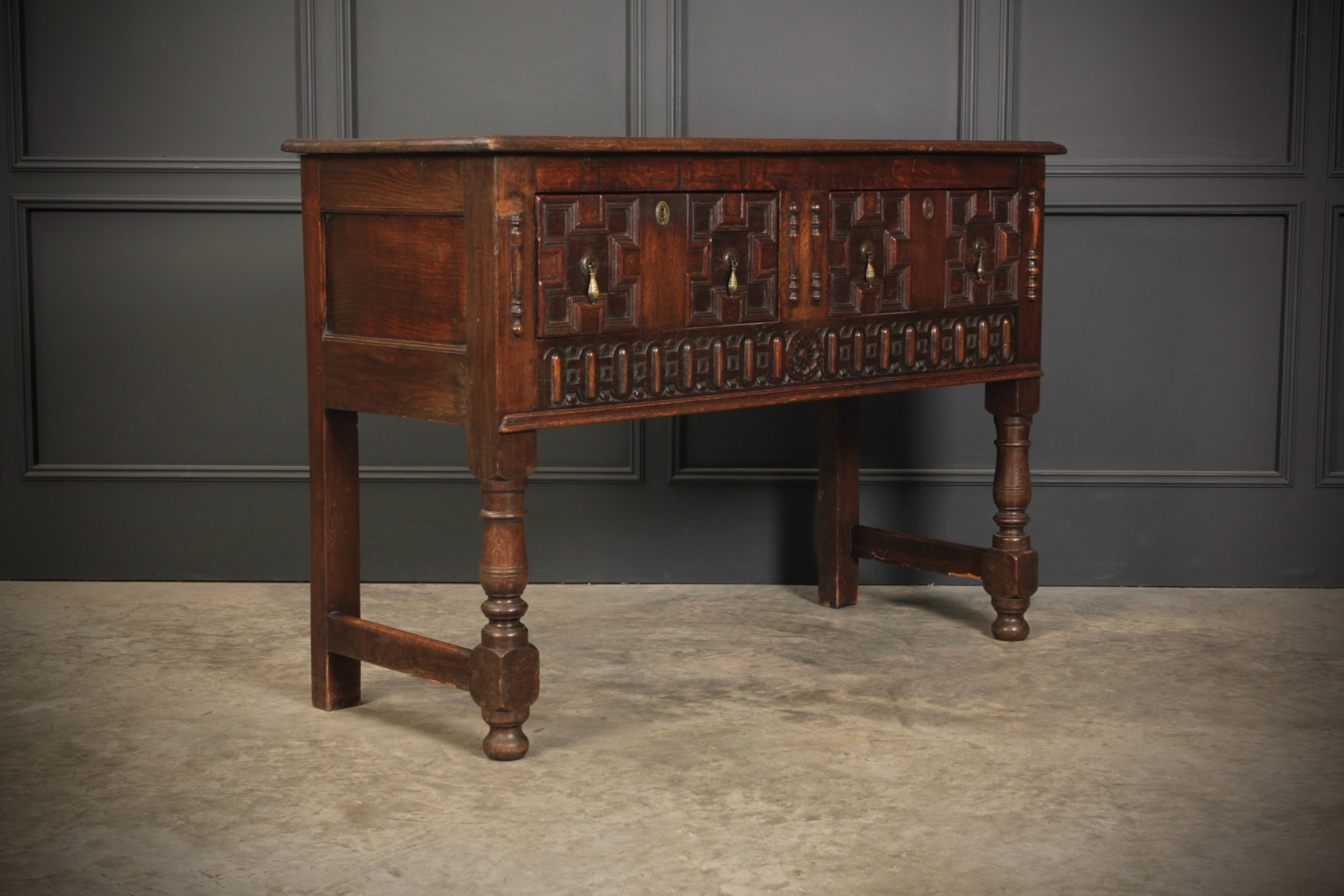 jacobean oak sideboard