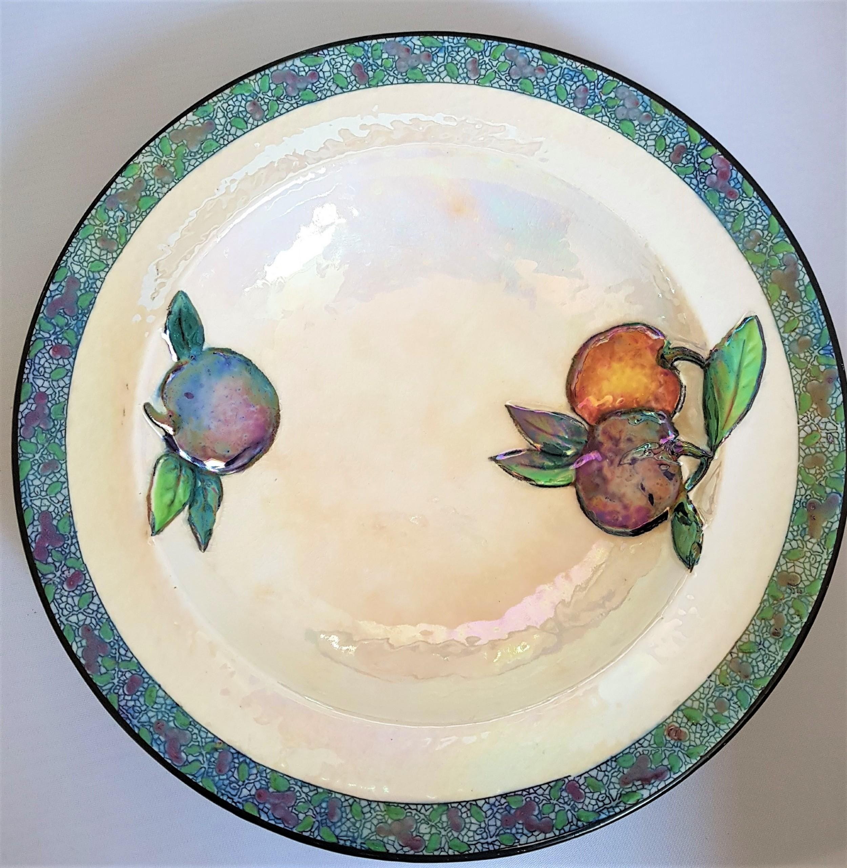 carlton ware pearl lustre art deco era 1920s dishes small plates x4 rare