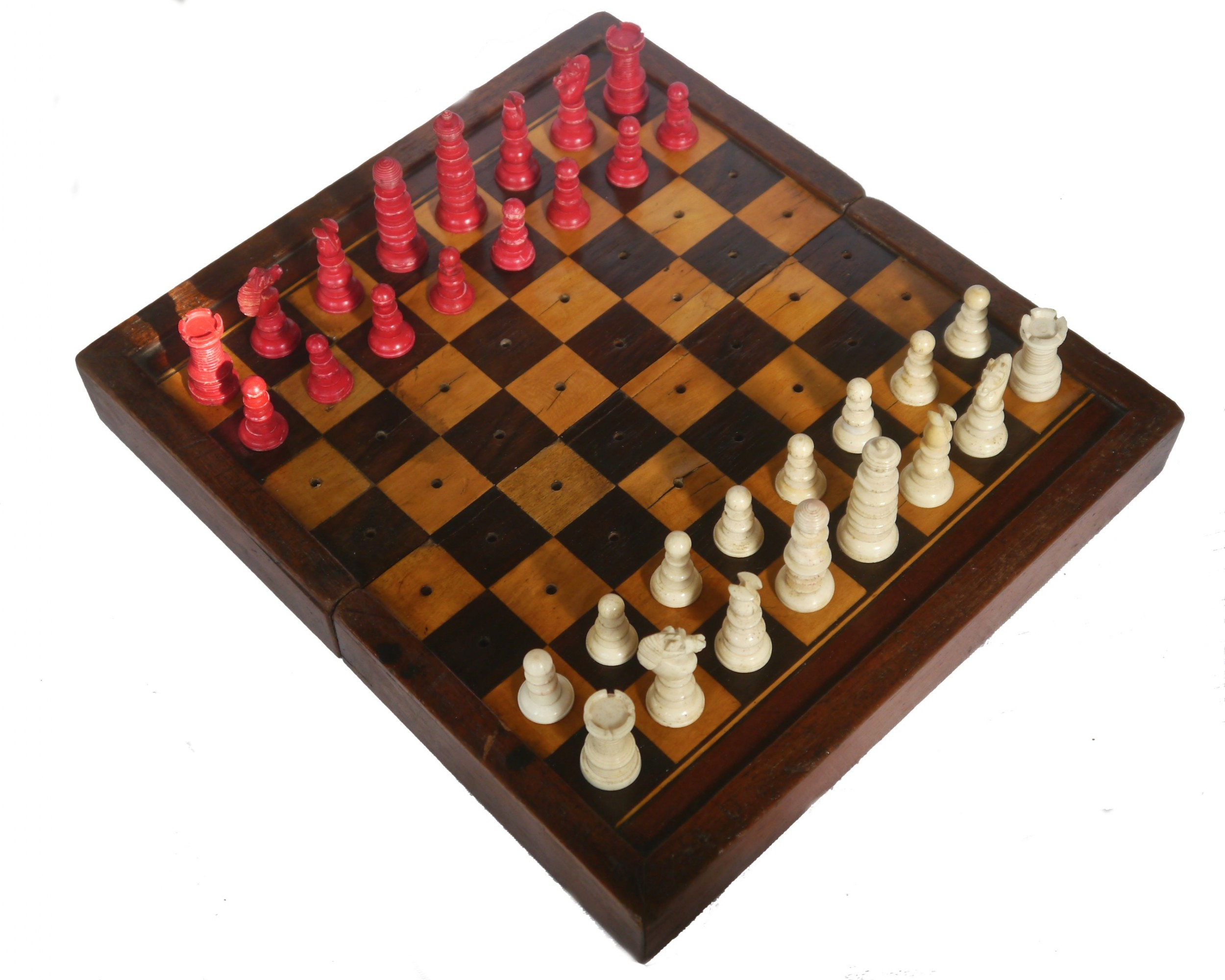 antique travel games board for chess backgammon circa 1870