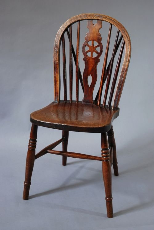 Set Of Four 19thc Wheelback Windsor Chairs | 144486 | Sellingantiques.co.uk
