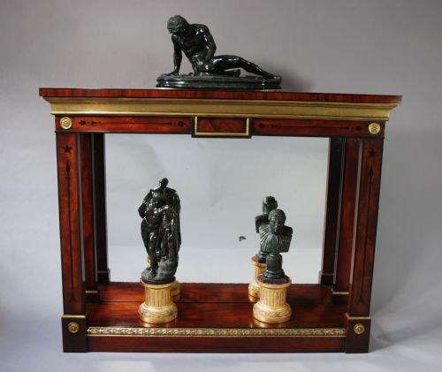 Regency Mahogany Ebony Mirror Backed Console Table 151175