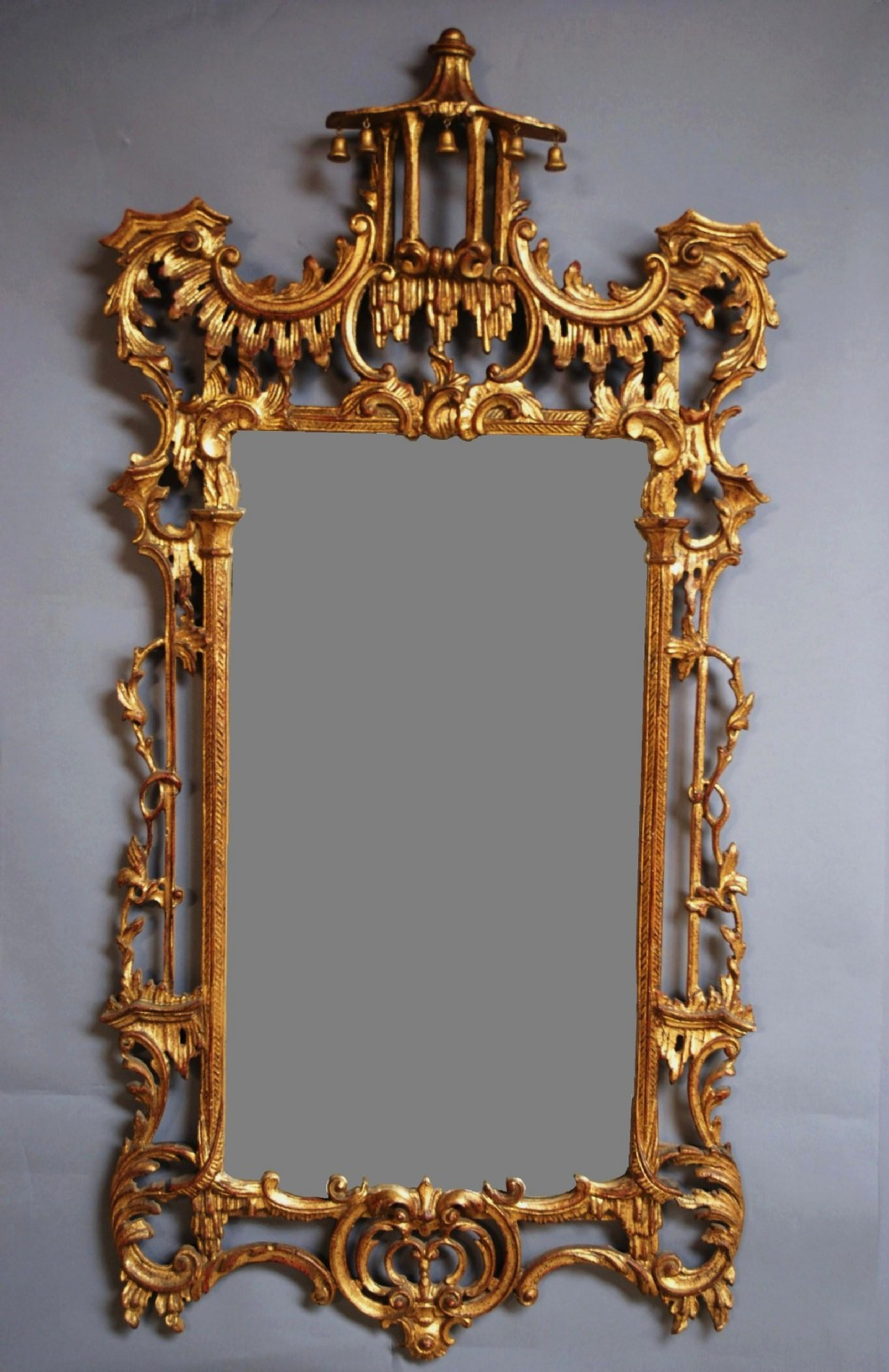 Early 20th c chinese chippendale style mirror 275575 for Asian style mirror