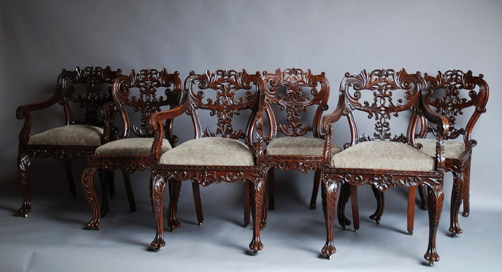 Set of six anglo indian chairs 307515 sellingantiques for Furniture indiana pa