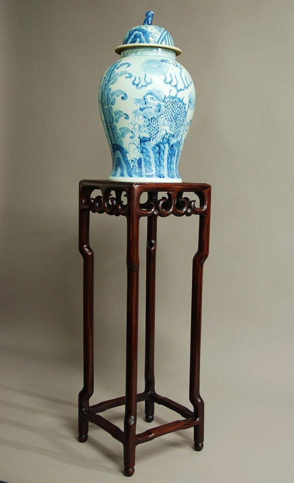 chinese hardwood pot stand