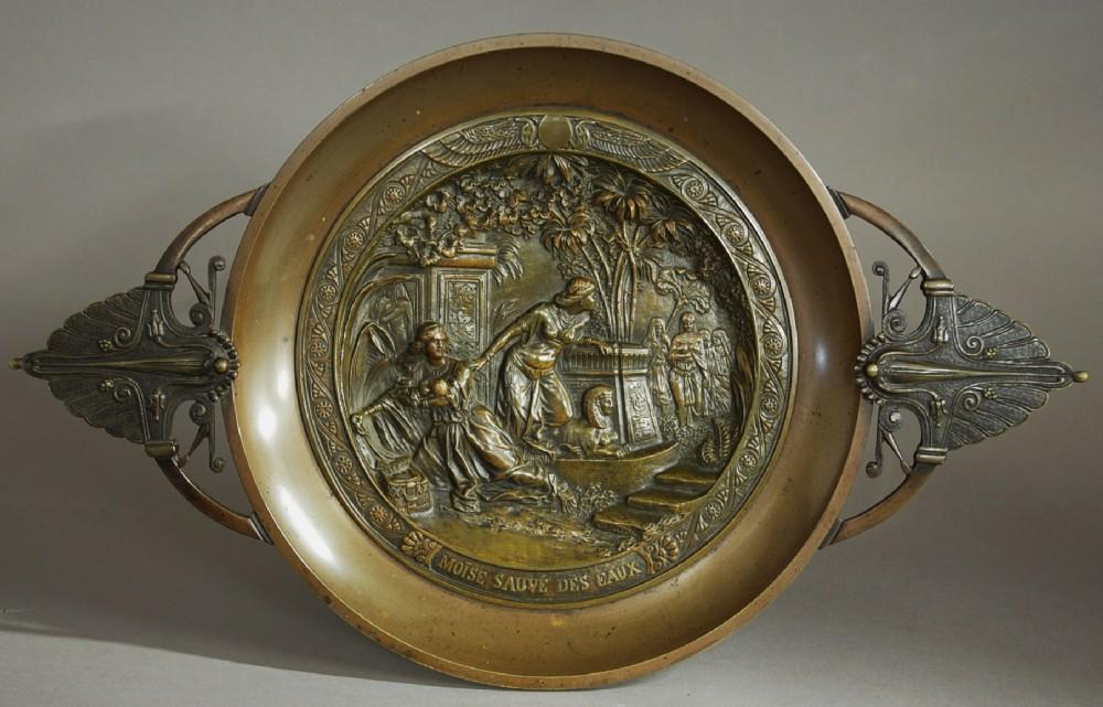 french mid 19th century bronze tazza