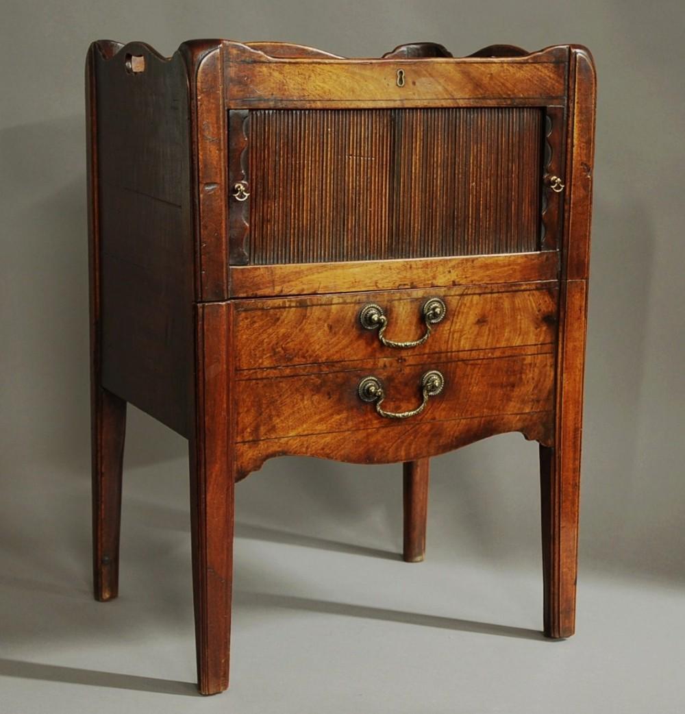 late 18th century mahogany night table of superb patina