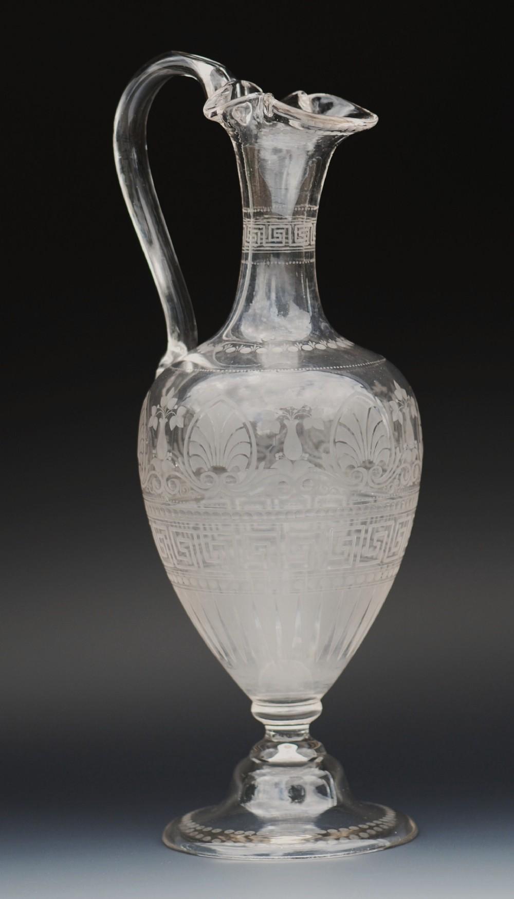 amphora acidetched claret decanter