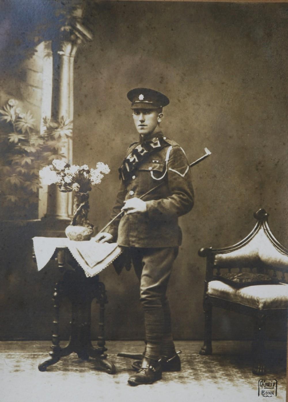an original photograph of world war 1 uniformed british officer