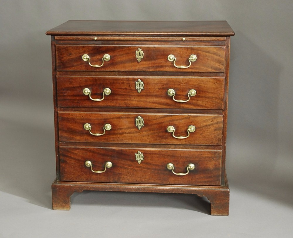 a rare george ii mahogany chest of drawers of small proportions superb patina