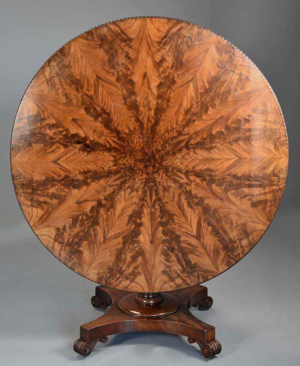 superb quality william ivth mahogany tilt top breakfast table of fine patina