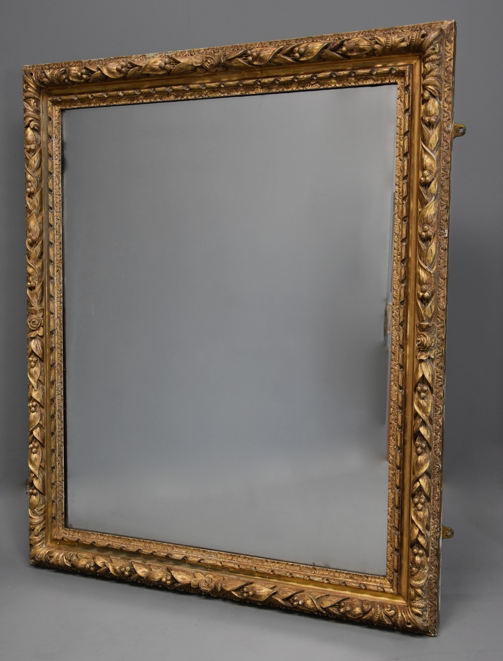 large 19th century carved giltwood mirror possibly french
