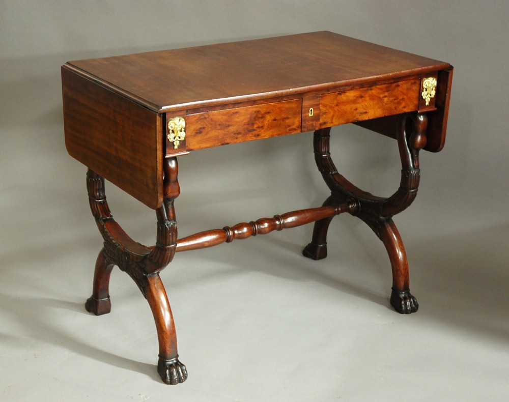 early 19thc french empire mahogany sofa table of superb patina attributed to jeanjoseph chapuis