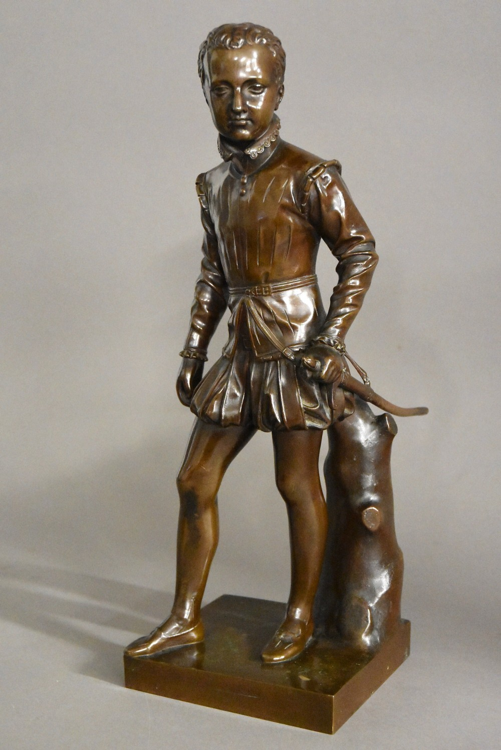 fine quality 19thc french bronze figure of henry ivth of france after francois j bosio stamped barbedienne