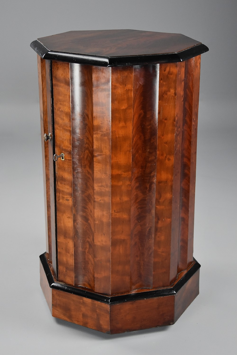 mid 19th century mahogany octagonal pot cupboard of fine patina and large proportions
