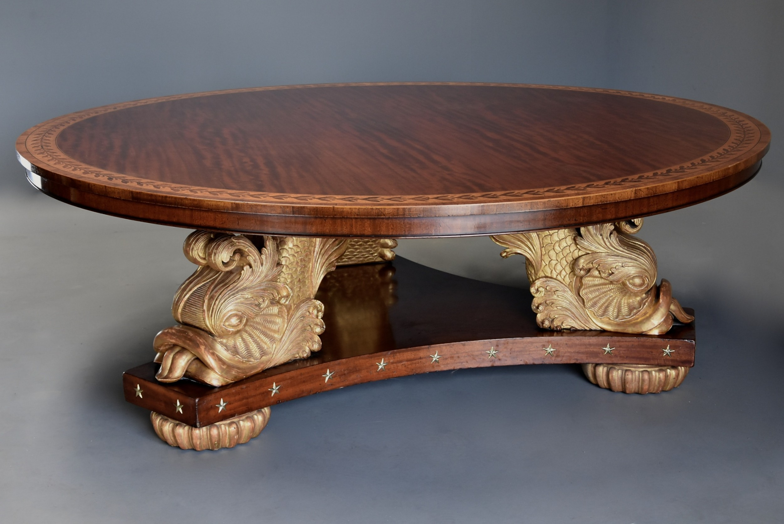 stunning extremely large rare superb quality early 20thc regency style centre table