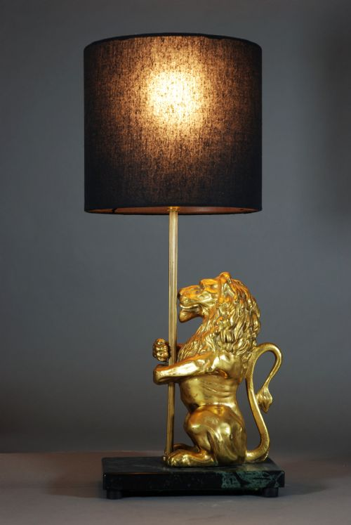 Decorative Ormolu Lion Lamp | 197857 | Sellingantiques.co.uk