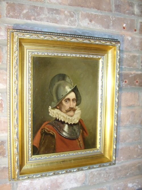 oil portrait painting of a swiss guard soldier in armour wearing 16th century dress 1725 x 145 inches - photo angle #6