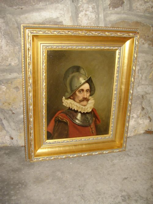 oil portrait painting of a swiss guard soldier in armour wearing 16th century dress 1725 x 145 inches - photo angle #7