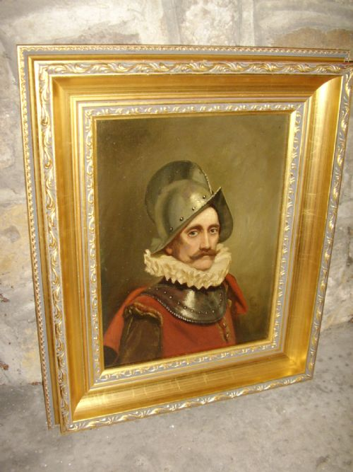 oil portrait painting of a swiss guard soldier in armour wearing 16th century dress 1725 x 145 inches - photo angle #8