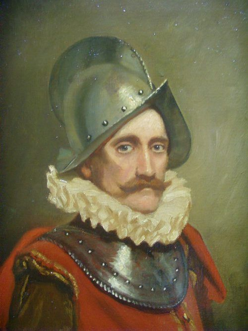 oil portrait painting of a swiss guard soldier in armour wearing 16th century dress 1725 x 145 inches - photo angle #13