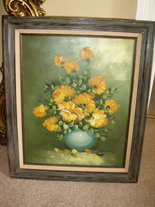 still life flower oil painting on canvas