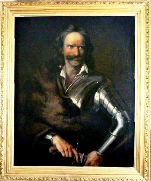 prince francis rakoczi i of transylvania oil portrait painting of man in armour