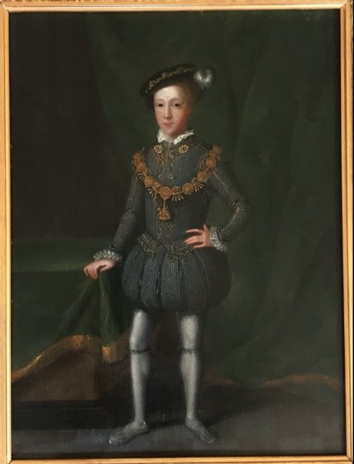 king edward vi 15371553 tudor oil portrait painting on oak panel