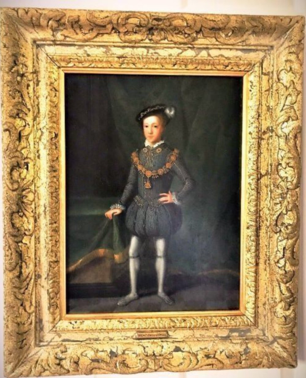 king edward vi 15371553 17thc dutch oil portrait painting on oak panel