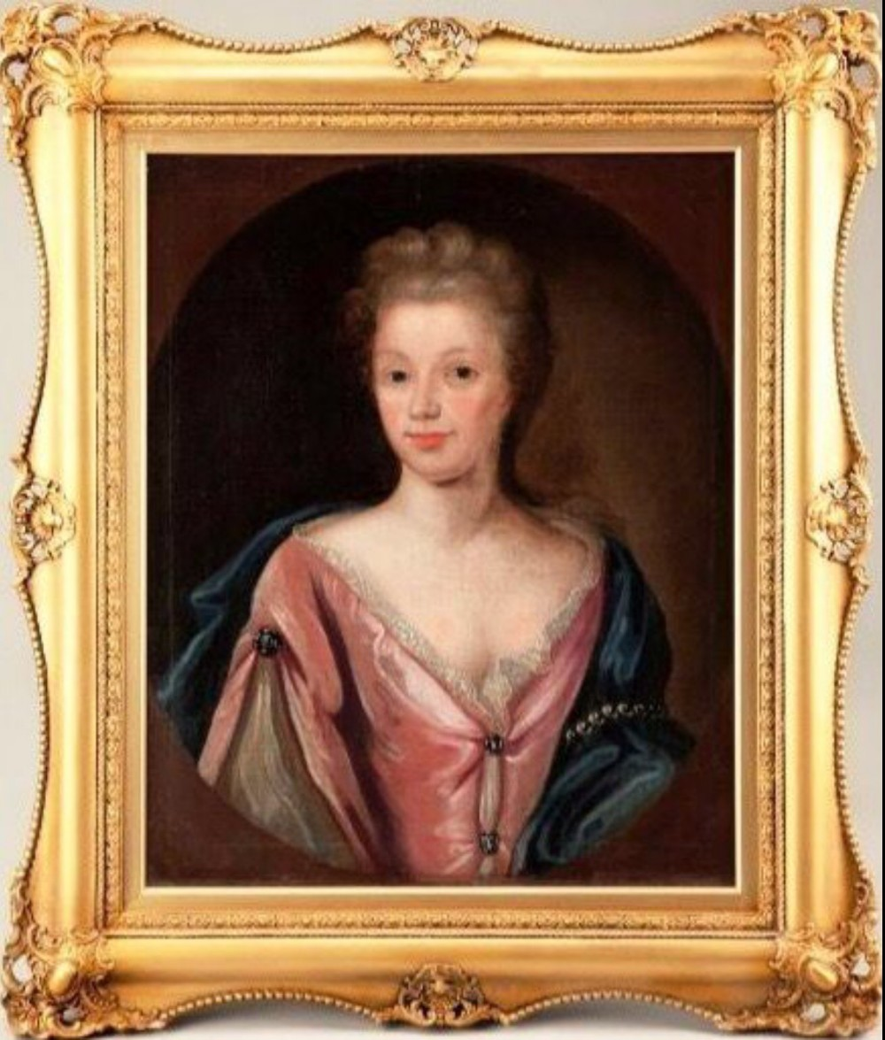 circle of michael dahl 16591743 large oil portrait 18thc painting of a lady offered at trade price
