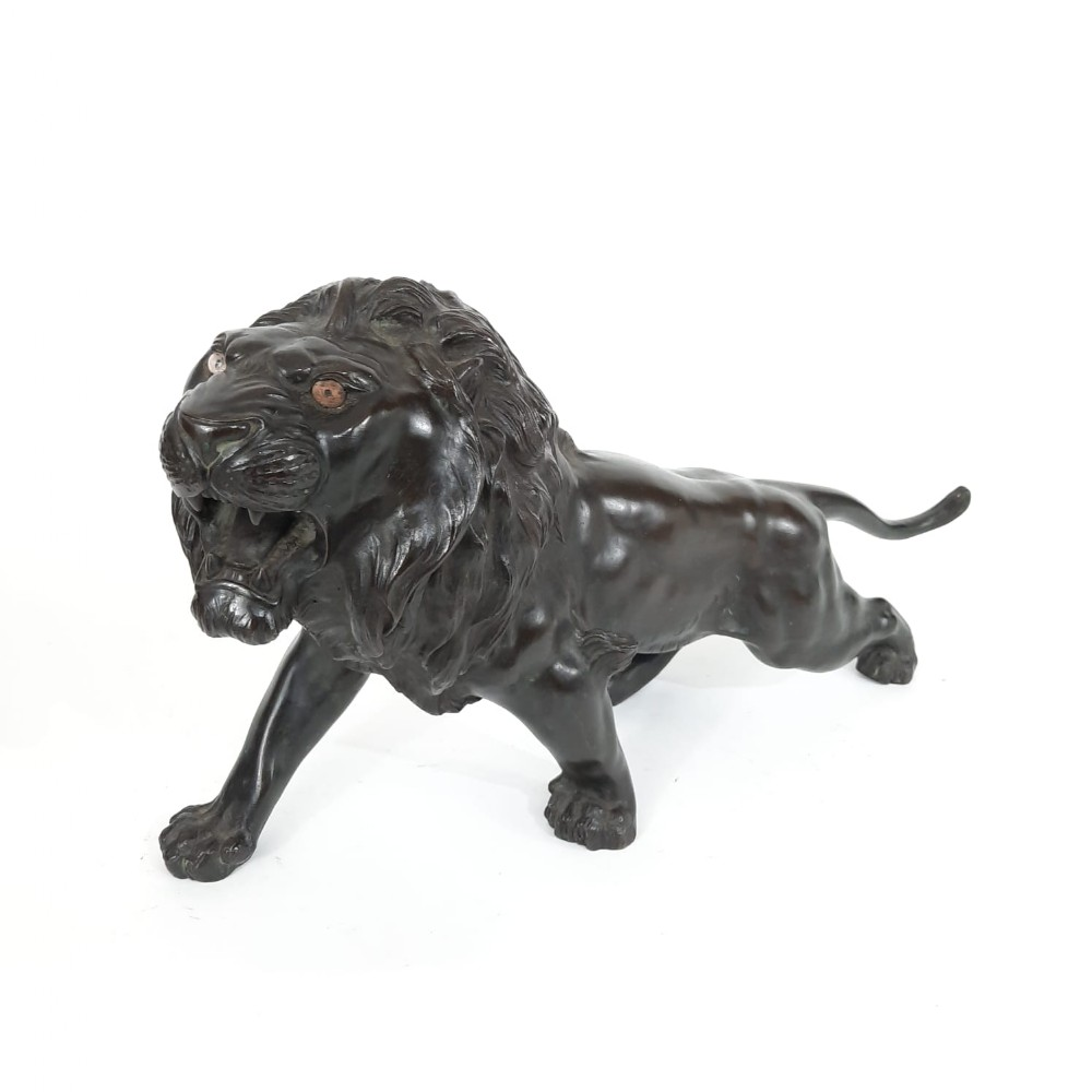 japanese bronze lion