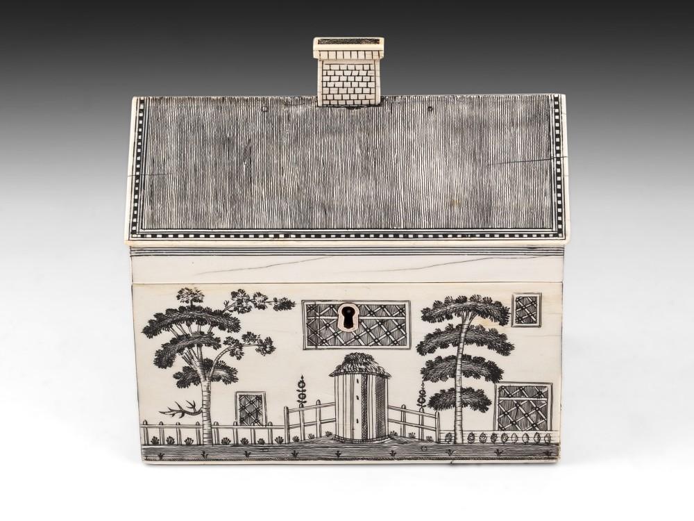 vizagapatam ivory house sewing box