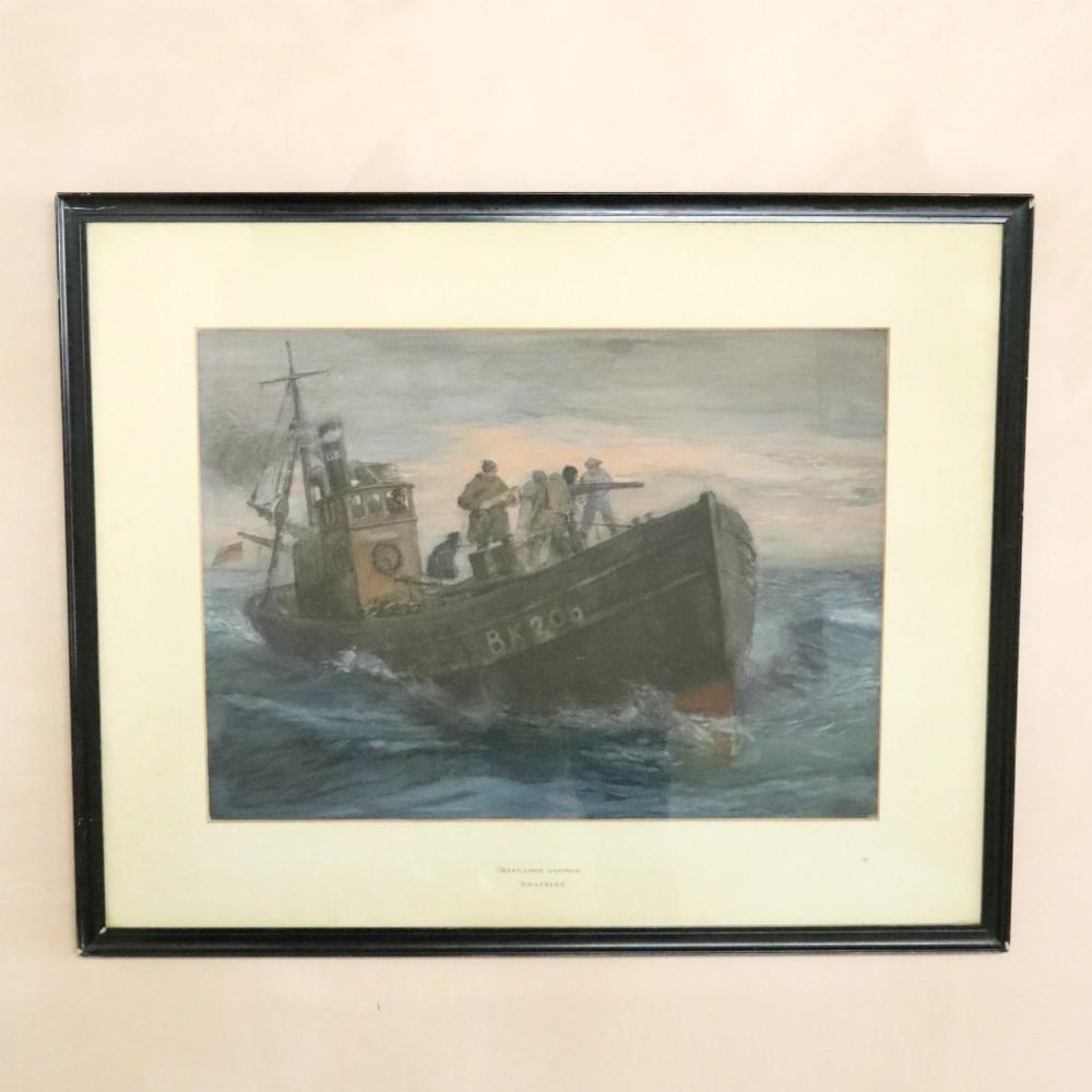 snaffles 'gentlemen unafraid original watercolour