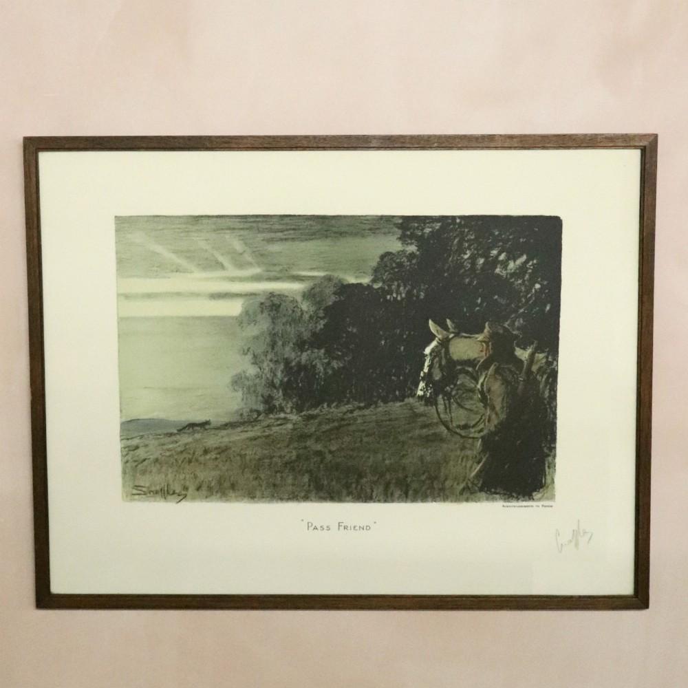 snaffles pass friend' original print