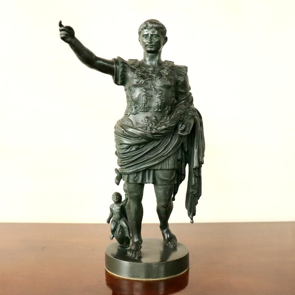 19th century grand tour bronze augustus of prima porta