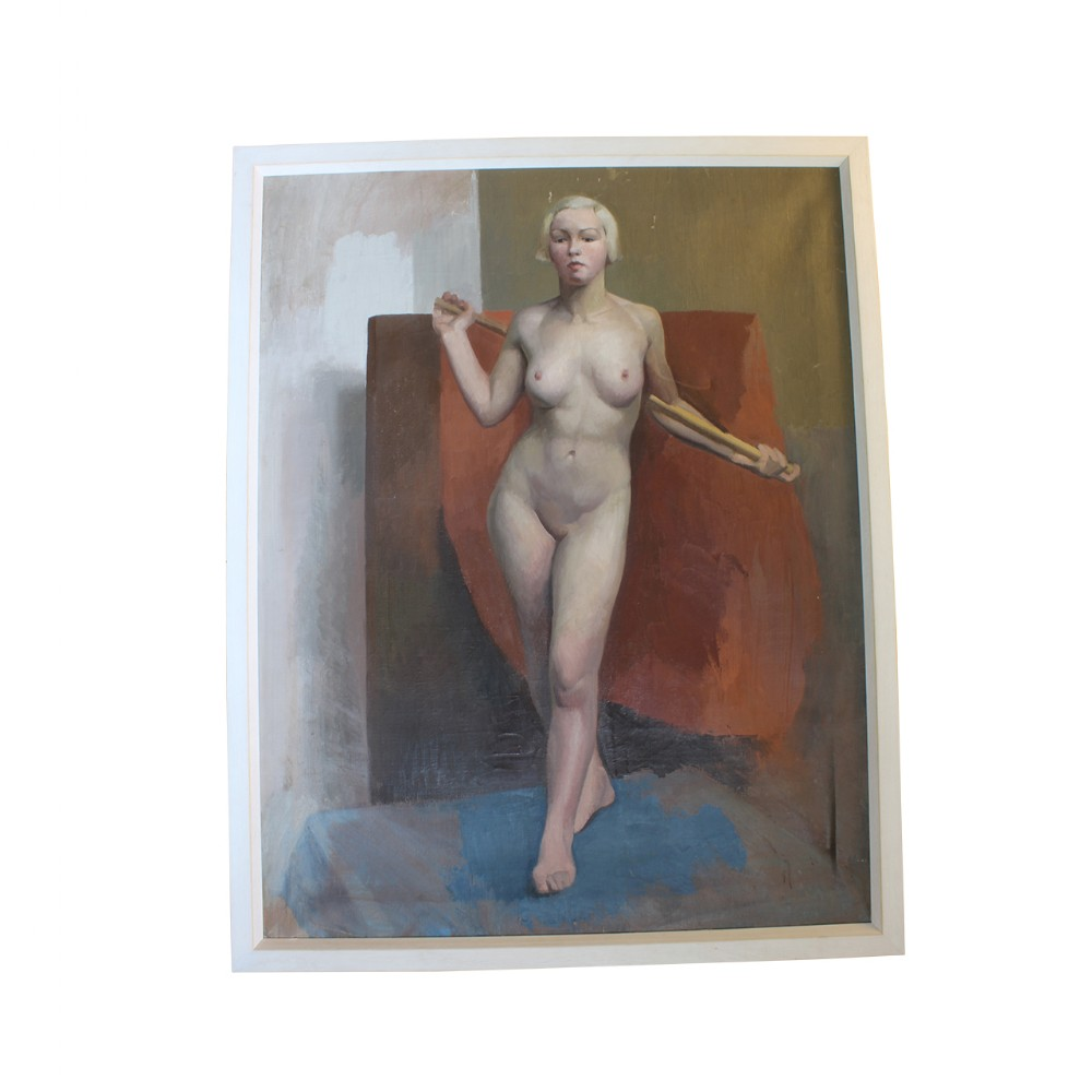 oil on canvas artist study nude