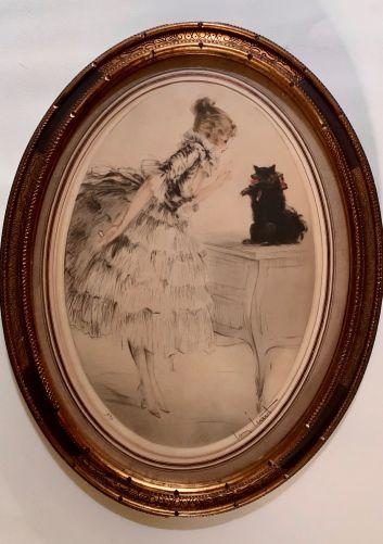 louis icart etching aquatint 'lou lou 1921'