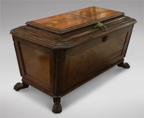 a lovely irish mahogany cellerette 19thc