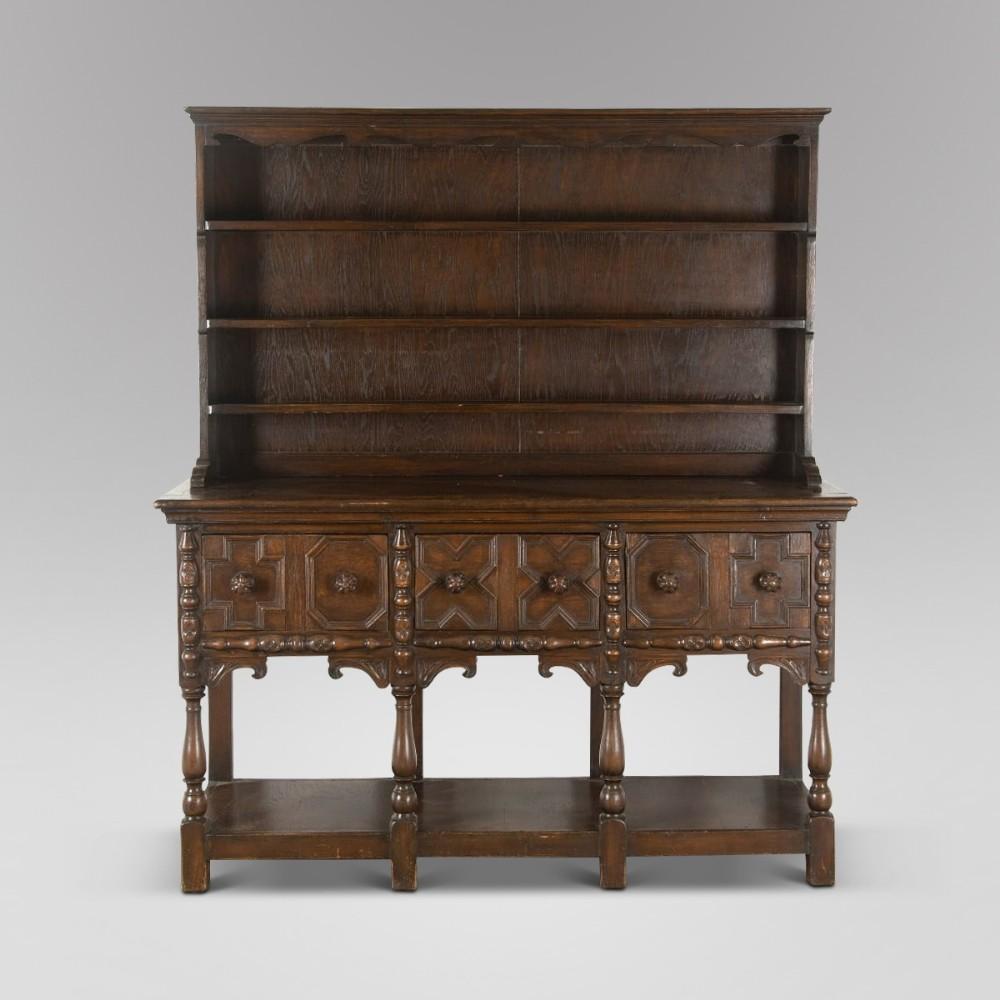 a 19thc welsh oak dresser