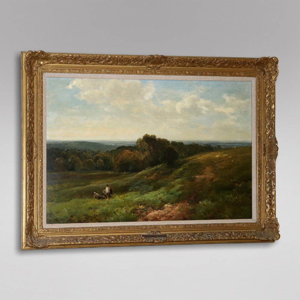 edmund wimperis oil on canvas sussex downs c1885