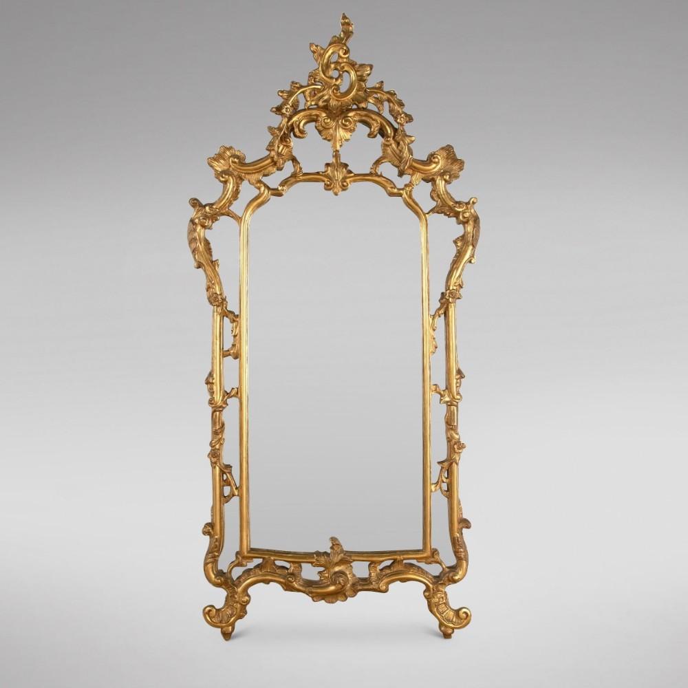 louis xv style 19thc giltwood wall mirror