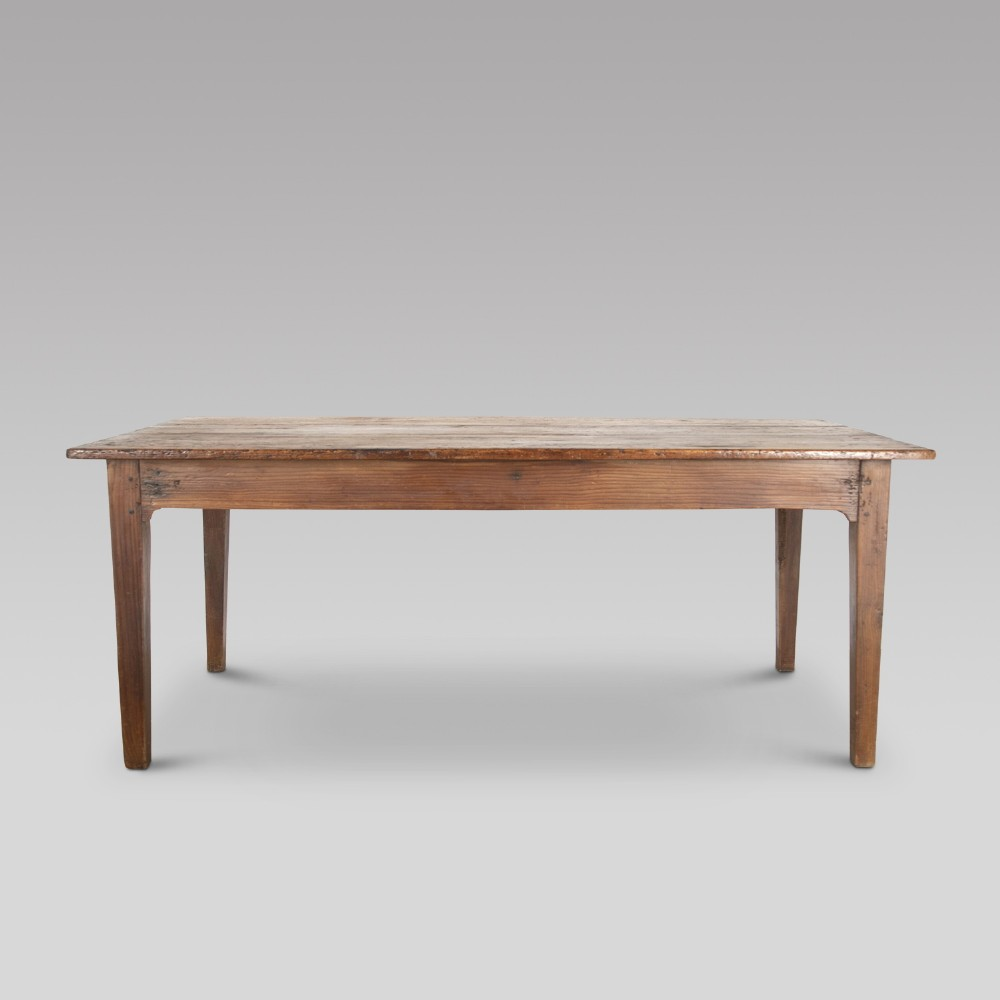 19th century french fruitwood farmhouse table